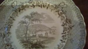 Spode dinner plate and Johnson Bros Indian Tree plate West Island Greater Montréal image 2