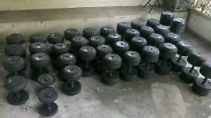 Ivanko Commercial Urethane Prostyle Dumbbells 5lbs-75lbs weight