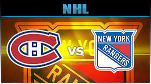 CANADIENS VS RANGERS REDS-BLUES THUR APRIL20Th