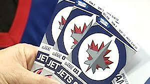 2 OR 4 - WINNIPEG JETS TICKETS - VARIOUS GAMES AVAIL.- CTR ICE