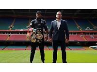 X 2 Anthony Joshua vs Pulev Tickets (Floor Seats)