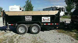 5 Ton Hydraulic Dump  Trailer for rent or small qty . Delivery