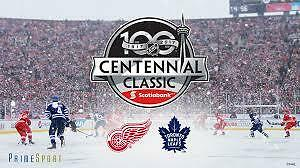 Red Wings - Leafs! Centennial Classic - Toronto - New Years Day!