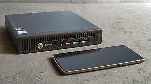 HP Prodesk G2 Mini, i3 6100T, 4Gb ram, 500GB hdd, wifi, win10