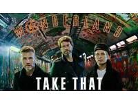 2 Take That Wonderland Tour Tickets