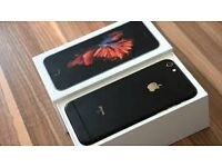 APPLE IPHONE 6S BLACK BRAND NEW WORKS ON O2 GIFF GAFF AND TESCO NETWORKS