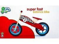 Balance Bike for sale £15: Grow & Play Super Fast Wooden Balance Bike.