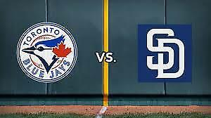 Blue Jays vs. Padres – May 24….200's, Row 1, Aisle