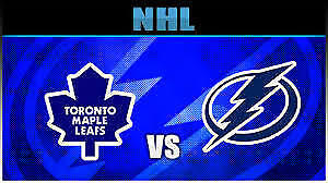 Toronto Maple Leafs vs Tampa Bay Lightning!....2 Tickets!