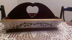 Hand Painted  Country Style Cutlery Tray