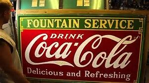 COCA COLA 4FT BY 8FT SIGNS, TEXACO POLE, PORCELAIN SIGNS