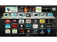 Sony smart tv wi-fi build in model kdl 46nx703 ,£200 ,very good working