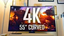 """55"""" Samsung Curved 4k . ,need quick sale.selling it for £700, price is negotiable."""