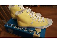 super dry trainers ( converse boot type trainers ) in nive light yellow