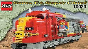 Santa Fe Super Chief Lego Train #10020