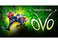 Cirque Du Soleil OVO x2 tickets 4th March Royal Albert Hall