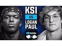 KSI VS LOGAN PAUL 2018 TIER 1 SEATS