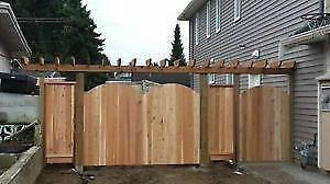 Fence installs cedar or chain link fence free Estimate