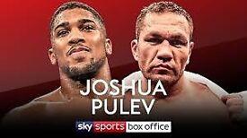 2 X Anthony Joshua tickets vs Pulev