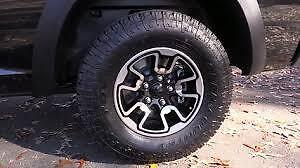 Brand new tires and rims of a Dodge Rebel