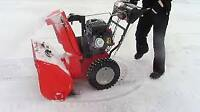 *Snow Blowing Service*