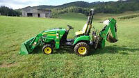 Small backhoe and loader for hire