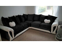 BRAND NEW CRUSH VELET SHANNON 3+2 seater sofa corner sofa