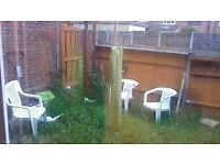 2 bed large garden council ground floor flat in London for 1/2 beds all areas..