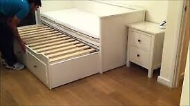 Hemnes Ikea day bed 3 drawers 2 mattresses SHEFFIELD