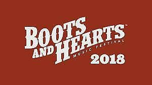 Looking for Boots & Hearts Ticket(s) !!!!!!