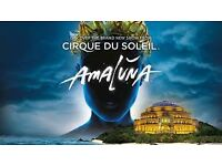 3 tickets to Cirque du Soleil's Amaluna on 22nd January 2017 at Royal Albert Hall