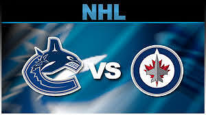 2 Tickets Jets Vs. Vancouver Canucks March 26, 2017 Section 313