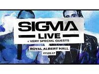 Up to 4 Sigma stalls tickets Royal Albert Hall London Sat 27th May