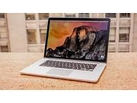 MacBook Pro Retina Display 15-inch 2.5GHz 16GB memory Quad-core Intel Core i7 Turbo Boost 3.7GHz