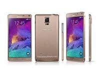 Sim Free Samsung Galaxy Note 4 Gold 32GB With Warranty