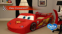 Save 50% On BNIB Disney Cars Convertible Twin Bed & Toy Box