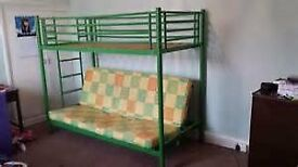 Jay-Be bunk bed with mattresses