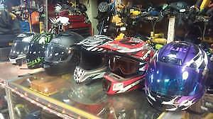 MOTORCYCLE HELMET Sale $39 + up at Great Pacific Pawnbrokers