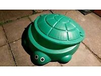 Outdoor Green Turtle Sandpit