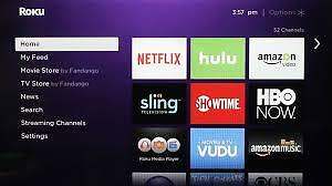 Roku Streaming Box with Remote Cambridge Kitchener Area image 1