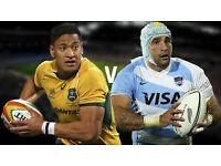 2 tickets Australia v Argentina Sat Oct 8