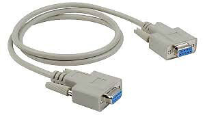 DB9 Female serial cable, 6 ft
