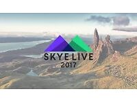 TWO TICKETS TO SKYE LIVE FESTIVAL
