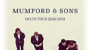 2 Billets Spectacle/Concert Mumford and Sons - 4 mars