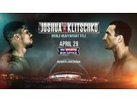 2/4 Anthony Joshua Wladimir Klitschko Boxing Tickets Floor Pitch Wembley Stadium block QQ row H