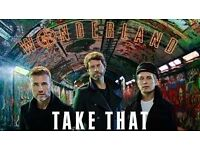 4 x Take That Wonderland Live Tour Tickets (Seated) at Manchester Arena 26/05/2017
