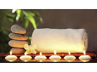 Bubbly foot spa soak with exfoloation and massage