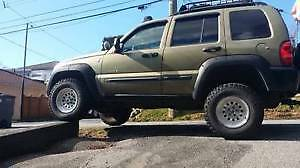 ## 2004 LIFTED JEEP LIBERTY RENEGADE TRAIL RATED EDITION 4X4 ##