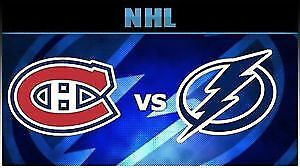 (2X2) BILLET TICKET CANADIENS TAMPA BAY CENTER 302A 303A GRIS