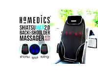 HoMedics Shiatsu Max 2.0 Back and Shoulder Massager with Heat Massage Chair (ALMOST NEW)